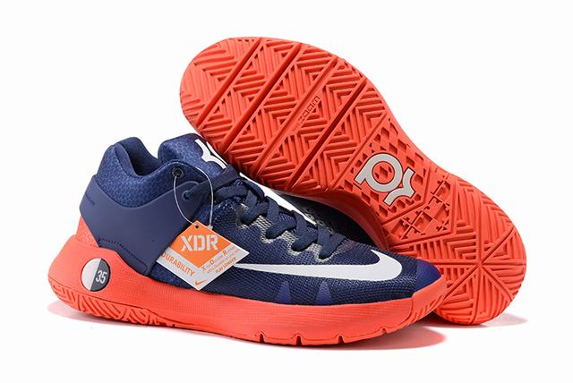 Nike KD Trey 5 Shoes Dark Blue Orange